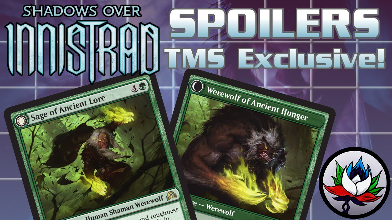 MTG SHADOWS OVER INNISTRAD Sage of Ancient Lore Werewolf of Ancient Hunger