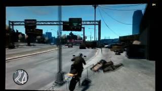 [HD] Grand Theft Auto IV GTA 4 gameplay Radeon 4870 Phenom II 940 1080P Motorcycle PC