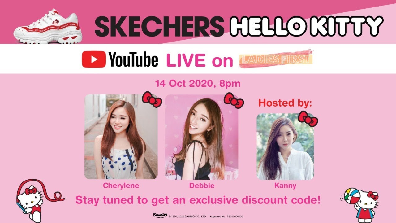 Trying On The Latest Skechers X Hello Kitty Collection!