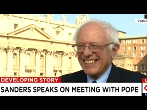 Bernie Sanders Talks About Meeting With Pope Francis While At The Vatican