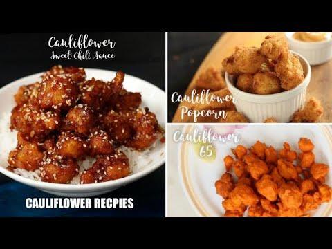 cauliflower-recipes-|-cauliflower-sweet-chili-sauce-|-gobi-popcorn-|-gobi-65