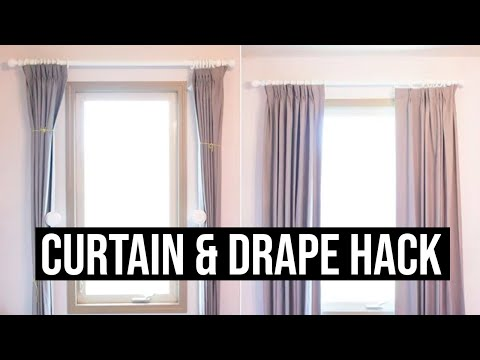 Custom Drapes - How to Train Your Drapes and a Hack to Lengthen