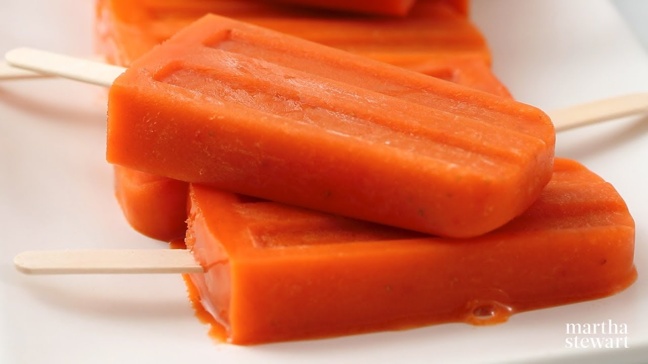 Carrot-Ginger Pops - Martha Stewart
