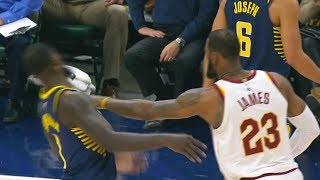 LeBron James SHOVES Lance Stephenson & ALMOST FIGHT During Scuffle! Cavaliers vs Pacers thumbnail