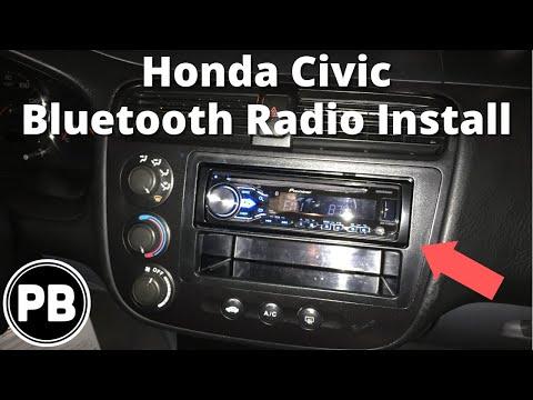 2001 - 2005 Honda Civic Stereo Install Pioneer DEH-X4800BT