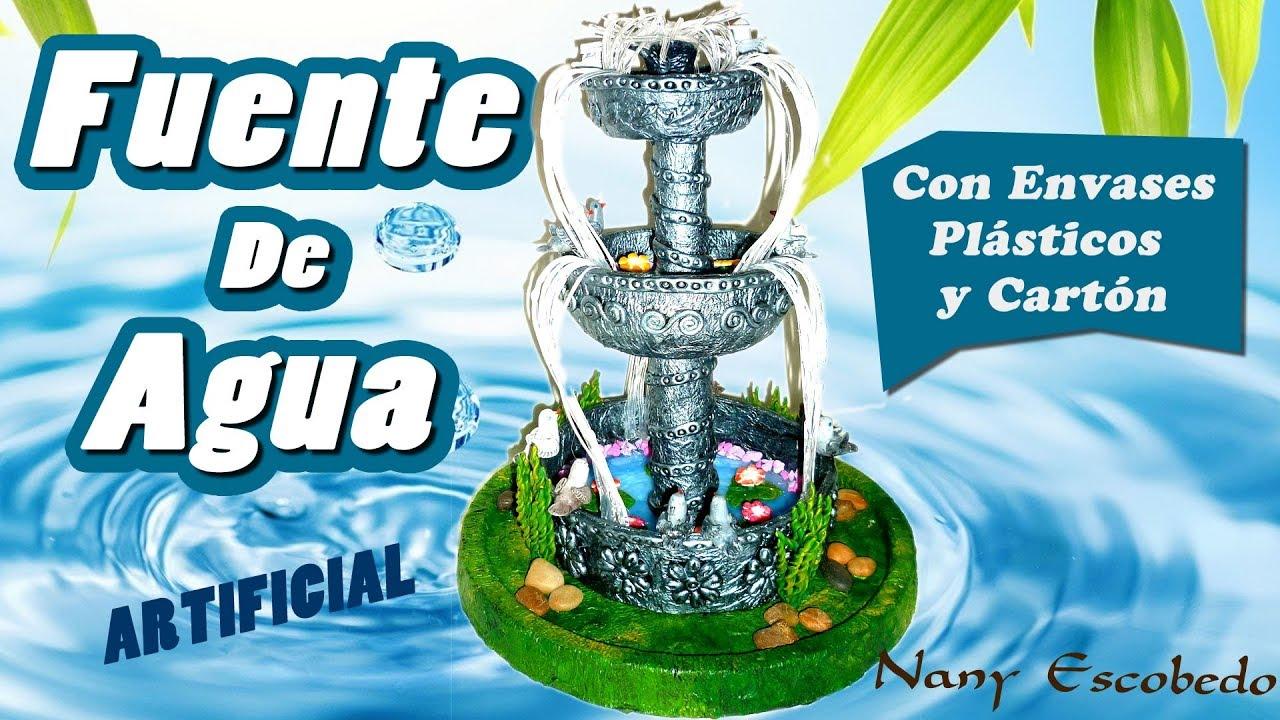 Fuente de agua artificial 2 youtube - Motor de fuente de agua ...