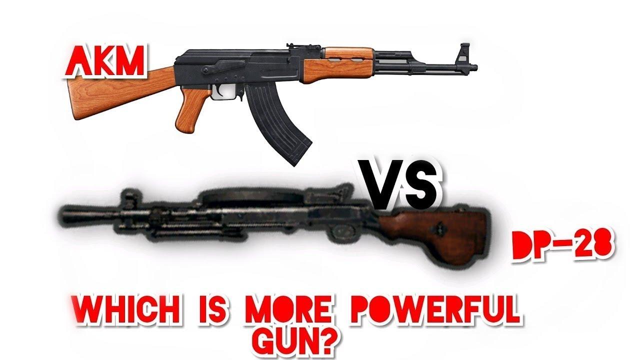 Pubg Mobile Akm Vs Dp 28 Damage Test Which Gun Is Best