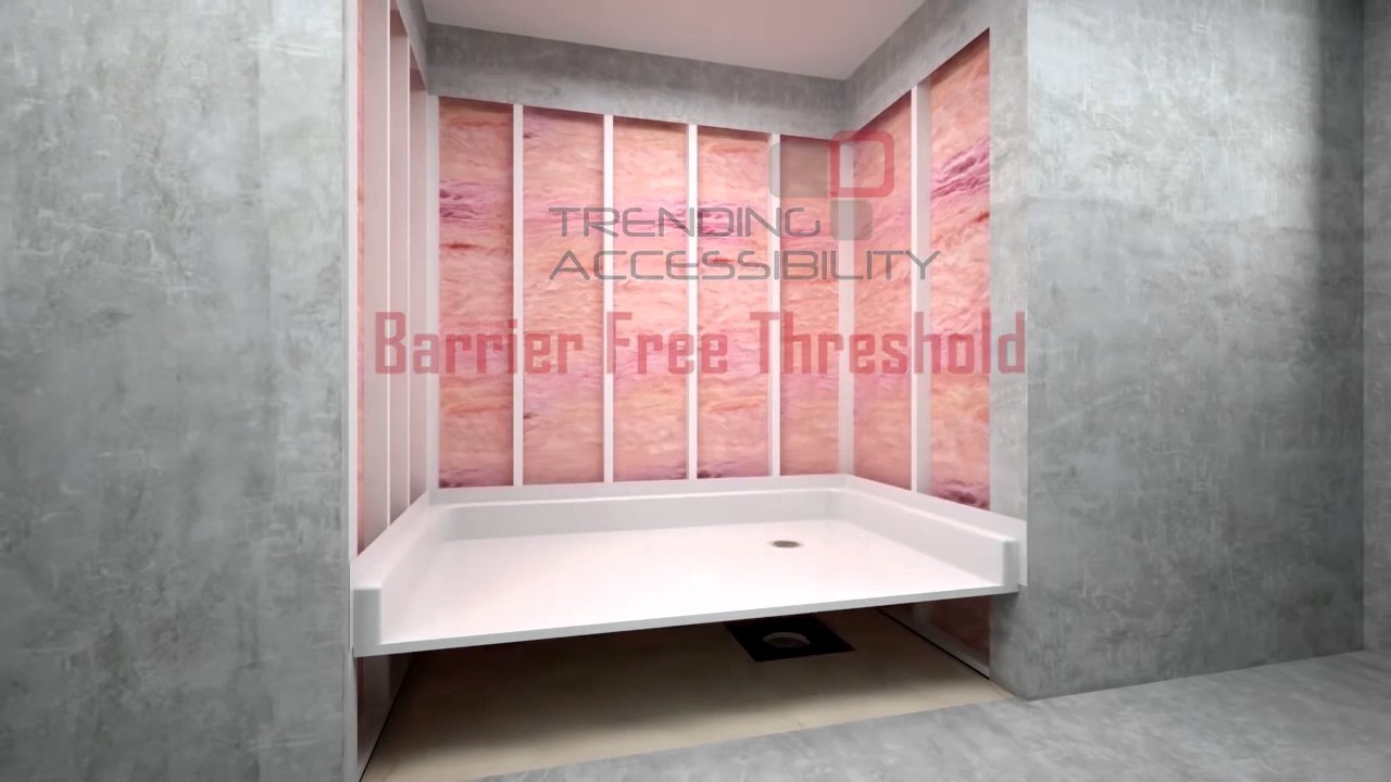 Tub To Shower Conversion With A Barrier Free Modular Shower Surround