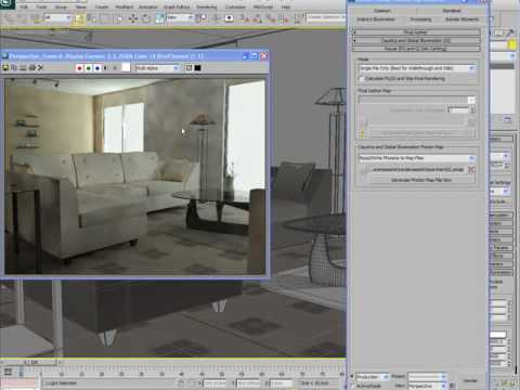 Global Illumination And Final Gather In Mental Ray For 3ds Max 2010 Youtube