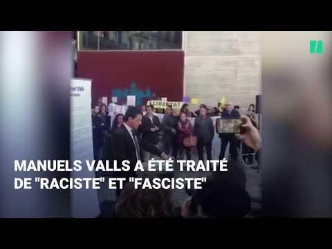 Manuel Valls interrompu par des indépendantistes à Barcelone