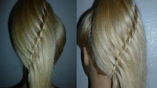 Коса Водопад-Оригинальная.Плетение волос мастер класс. Простая Причёска для средних, длинных волос