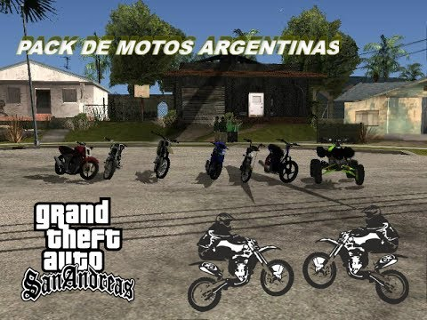 Pack de motos argentina para gta san andreas
