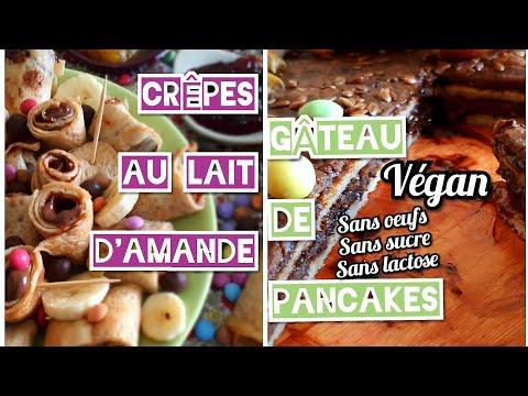 crÊpes-au-lait-d'amande🌱-et-gÂteau-de-pancake- végan-moelleu-[sans-oeuf][sans-lactose][sans-sucre]