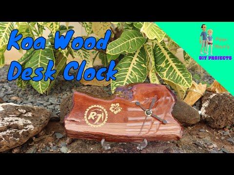 Poor Man's DIY Projects: Koa Wood Desk Clock