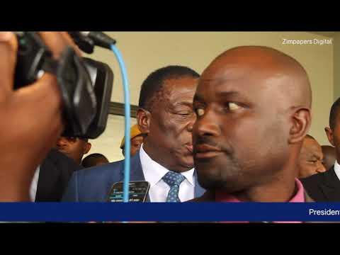 President Emmerson  Mnangagwa visits MDC T Leader Morgan Tsvangirai