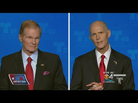 Senatorial Debate Held In South Florida Between Bill Nelson And Rick Scott