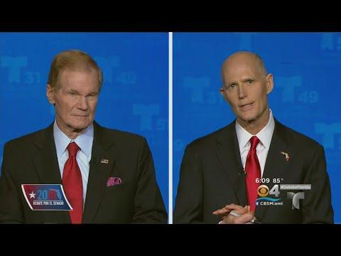 Senatorial Debate Held In South Florida Between Bill Nelson And Rick Scott