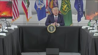 'It will start getting cooler' | President Trump responds to combating climate change in f