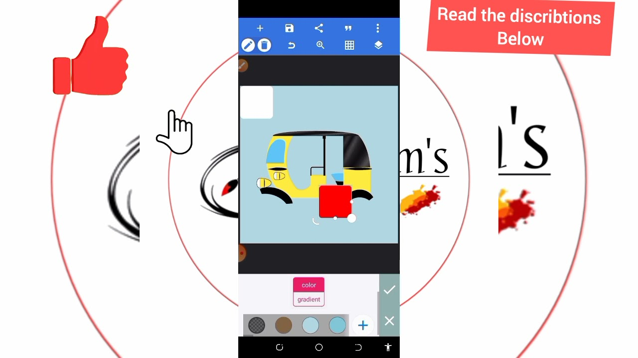 Download how to draw rickshaw (keke napep) maruwa on pixellab
