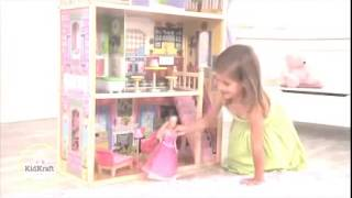 Girls Wooden Dollhouse Mansion For Barbie Dolls Kidkraft Kyla 65092