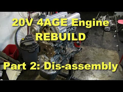 4AGE 20V Engine rebuild part 2: Engine dis-assembly
