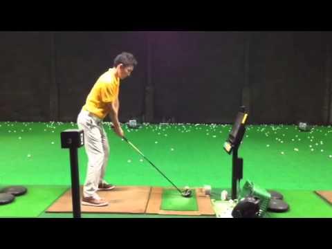 ゴルフ自宅練習用ネットでスイング練習 Tommy Armour golf practice net ...