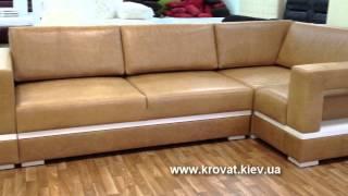 Кожаный диван(Большой угловой диван в коже с деревянными элементами украсит гостиную в вашем доме. Под заказ производитс..., 2014-08-30T08:20:03.000Z)