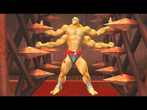 Mortal Kombat: Deception - All Stage Fatalities/Death Traps on Goro (1080p 60FPS)