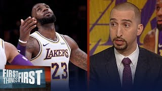 Nick Wright on what adjustment LeBron,Lakers need to make after 4-6 start | NBA | FIRST THINGS FIRST