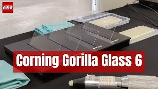 A quick demo of the strength and benefits of Corning Gorilla Glass 6 | Digit.in