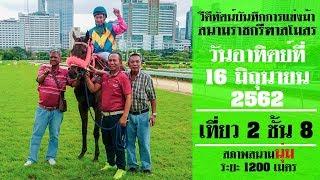 Horse Racing in Thailand | 16 June 2019 เทียว 2 ชั้น 8
