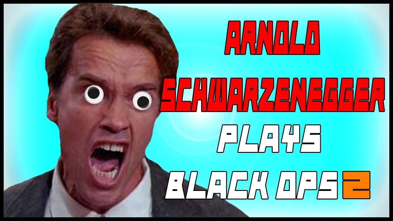 arnold schwarzenegger plays black ops 2 funny voice troll youtube