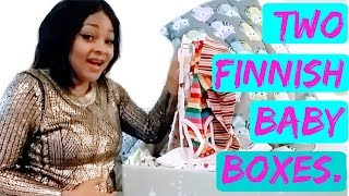 UNBOXING TWO FINNISH BABY BOXES 2017   | irisstace in finland