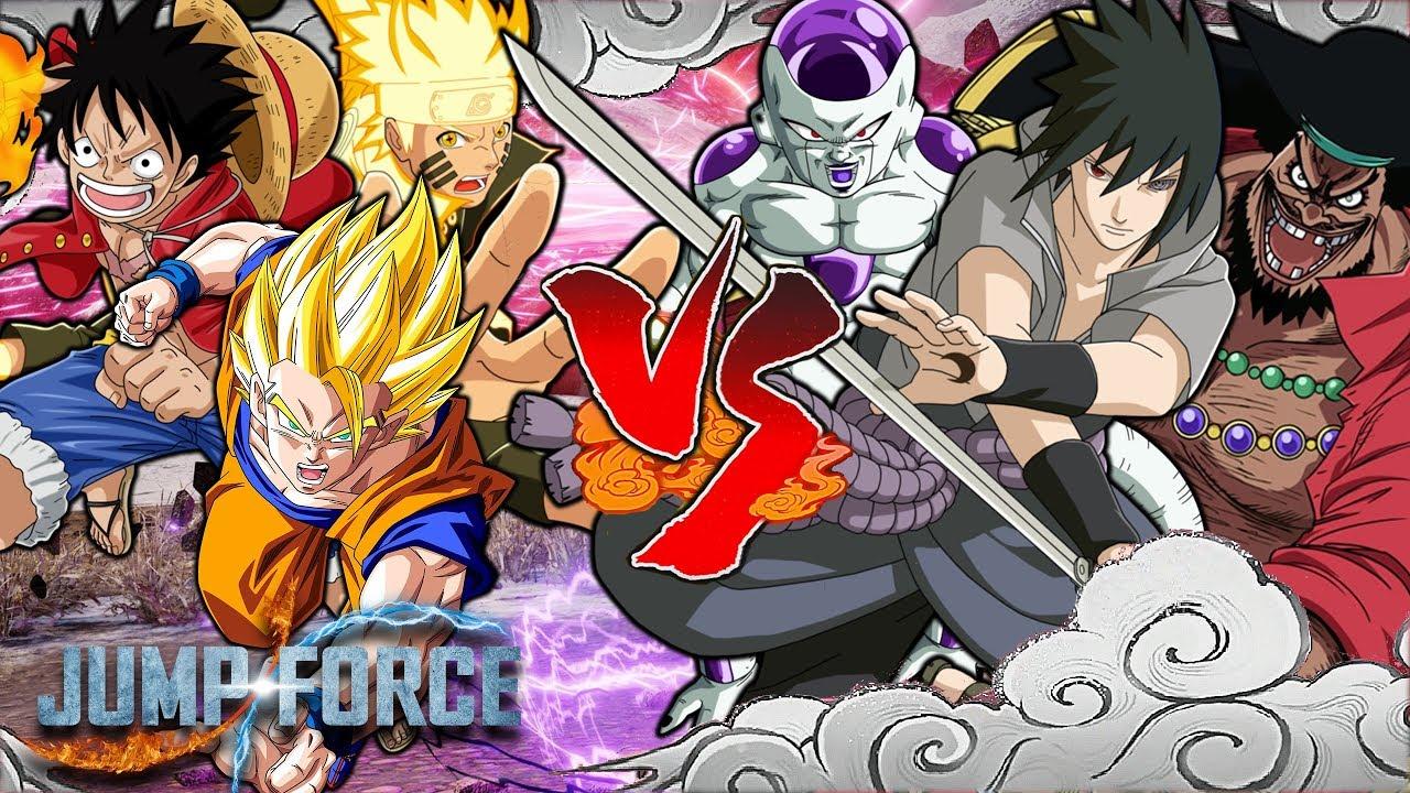 Naruto's command of chakra is unequaled in his world. Jump Force Naruto Luffy Goku Vs Frieza Sasuke Blackbeard Heroes Vs Villians Youtube