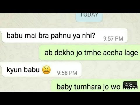 Girlfriend Boyfriend Romantic Chat In What'sapp  Very Cute And Romantic Couple