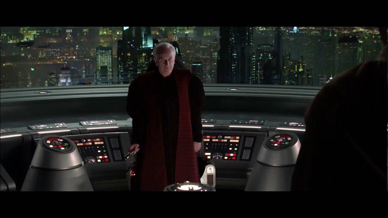 Hd 1080p Mace Windu Vs Darth Sidious Anakin Skywalker Youtube