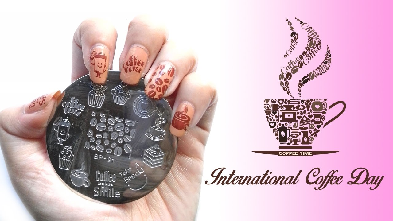 Coffee Nail Art Born Pretty Store Stamping Plate Review Youtube