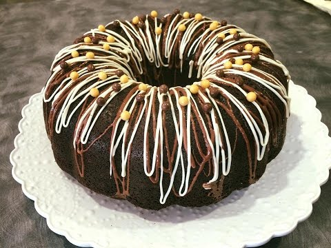 Chocolate Bunt Cake With Cream Cheese Filling