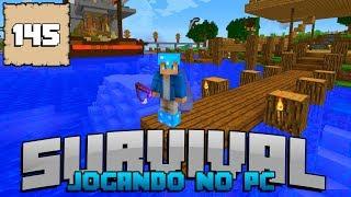 Minecraft Sobrevivência Ep.#145: PEIXE FANTASMA ASSOMBRANDO O LAGO