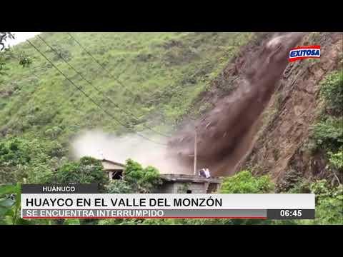 Huánuco | Huayco en el Valle del Monzón se encuentran interrumpido