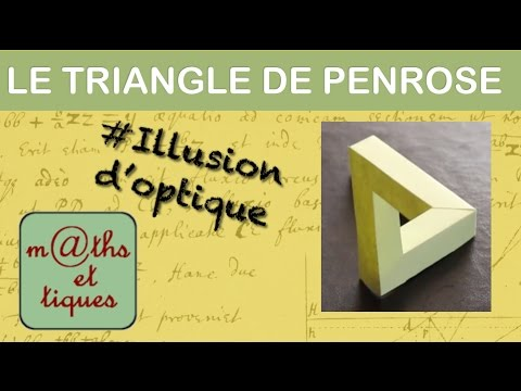 Le triangle impossible de Penrose - Illusion d