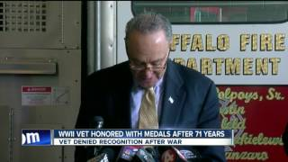 WWII vet honored with medals after 71 years