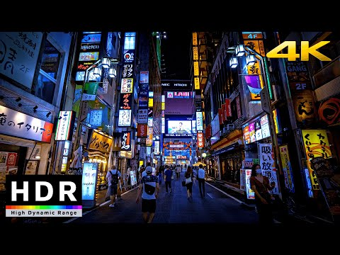 【4K HDR】Night Walk in Tokyo Red Light District - Shinjuku Kabukicho(歌舞伎町散歩) - Japan Walking Tour
