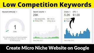 Low Competition Keywords #7 | Micro Niche Website | High Paying CPC