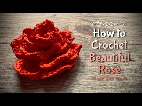 ВЯЖЕМ ПРЕКРАСНУЮ 🌹 РОЗУ 🌹 КРЮЧКОМ / HOW TO CROCHET BEAUTIFUL ROSE