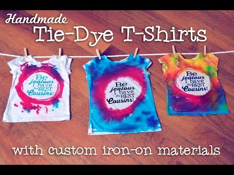 Making Freezer Paper Stenciled Tie-Dyed T-shirts
