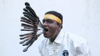 What A Mouthful: Guinness World Record Sword Swallower