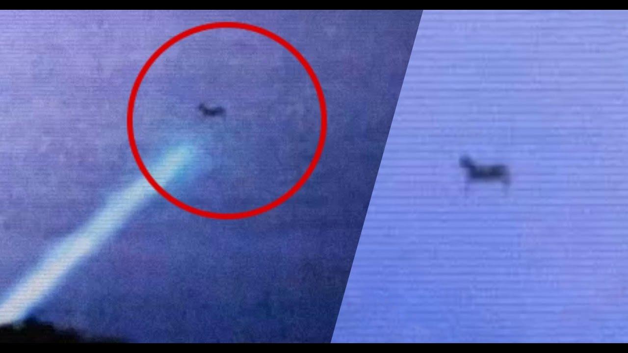 OMG AMAZING UFO SIGHTING | Flying Black Horse Caught In ...