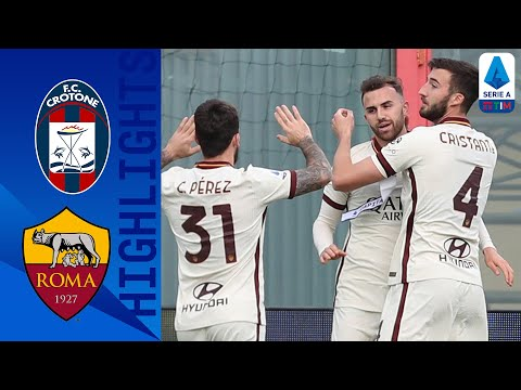 Crotone 1-3 Roma   La Roma vince nel primo tempo   Serie A TIM