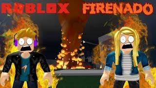 Roblox Tornado Alley - Firenado Death Fall!!!